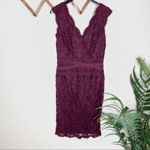 Tadashi Shoji Embroidered Lace V-Neck Dress